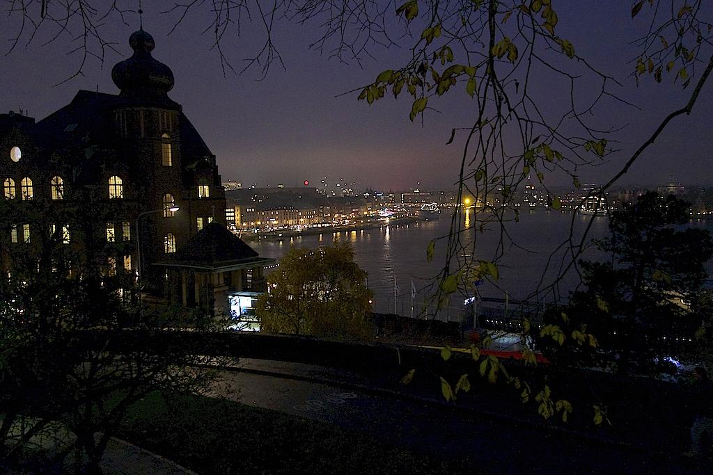 Utsikt från Klevgränd över Gamla stan och Strömmen.