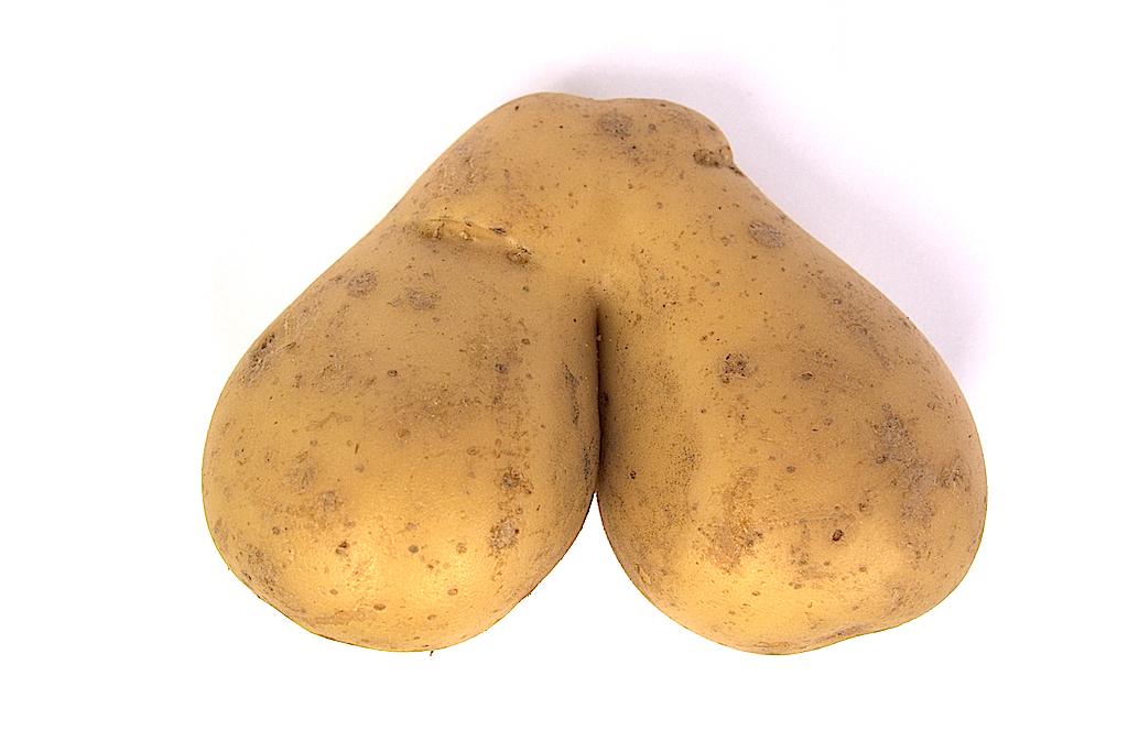 Potatis som ser ut som en pung