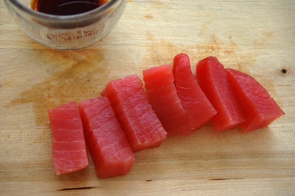 Sashimi på tonfisk