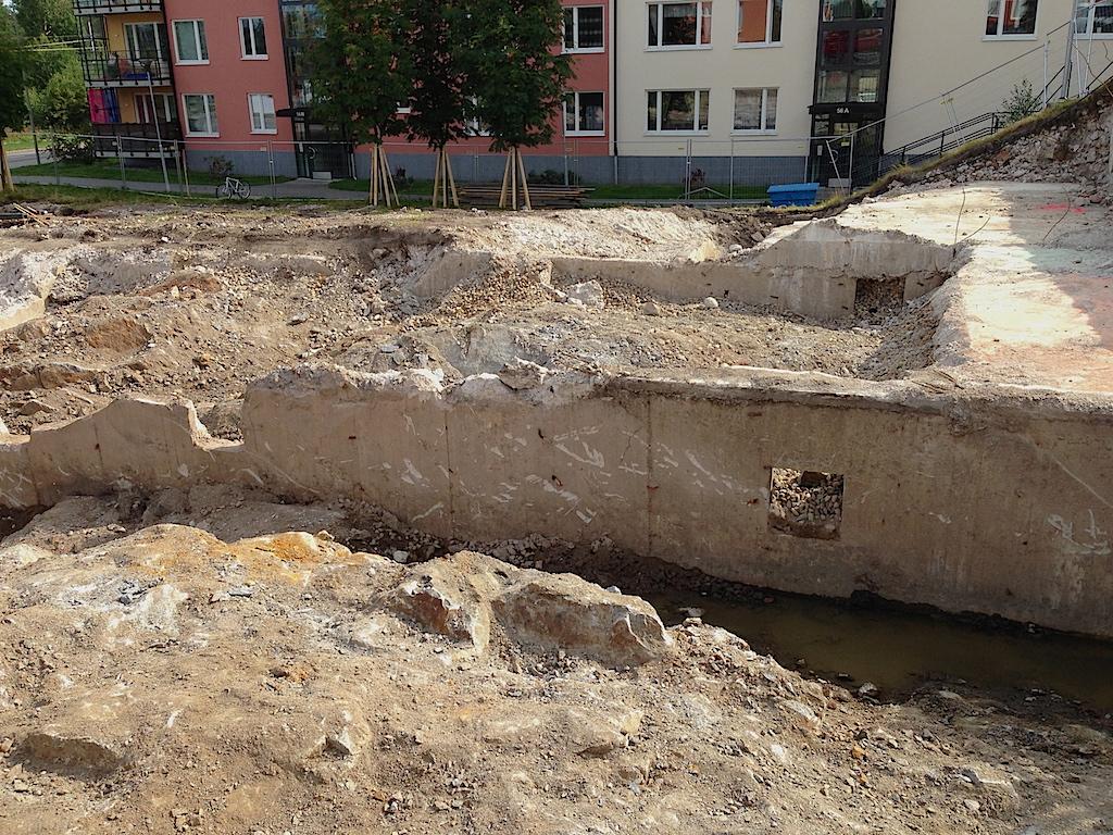Betongmurar från den hemliga underjordsanläggningen