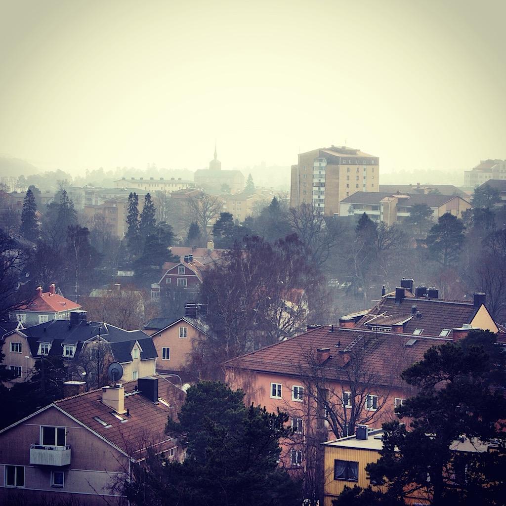 Nynäshamn i dis och dimma
