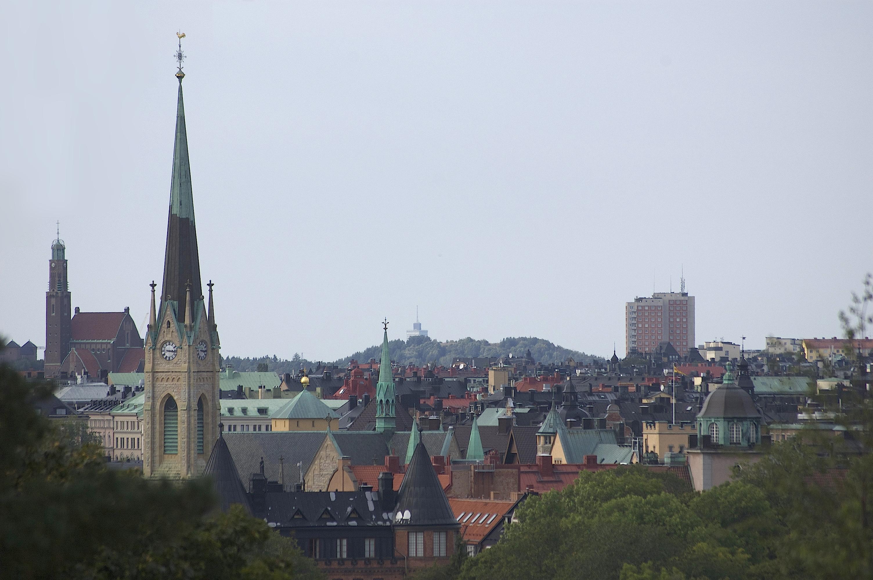 Kistaskrapan sedd från Skansen.