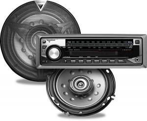 Bilstereo med högtalare