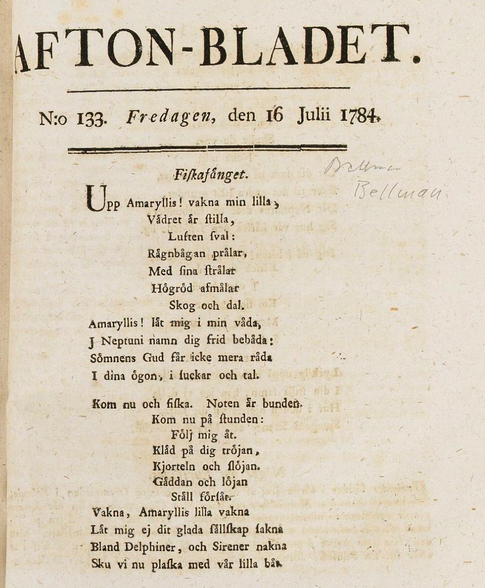 Texten till Bellmans Fiskafänge
